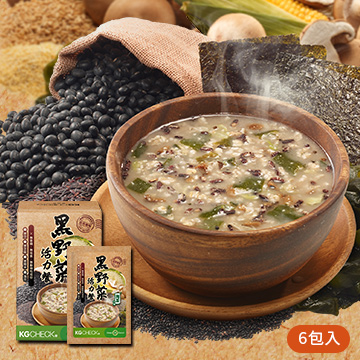 【滿足一餐】黑野菜海苔餐 (6包)